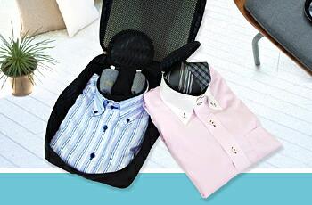 ワイシャツケース・ネックポーチ2個付きイメージ