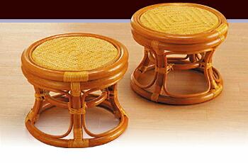 ラタン らくらく籐丸椅子 2個組イメージ
