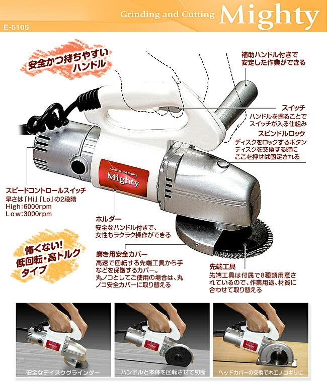 マルチ電動工具マイティー特徴1
