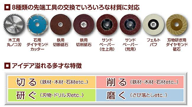 マルチ電動工具マイティー特徴2